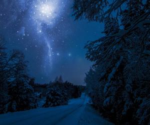 snow, stars, and night image