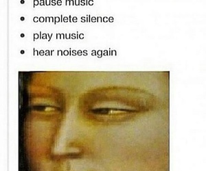 music, funny, and noise image