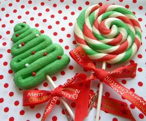 christmas, lollipop, and food image