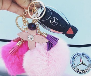 luxury, mercedes, and pink image