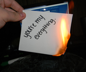 fire, text, and burn image