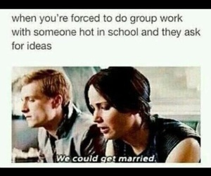 funny, hunger games, and lol image