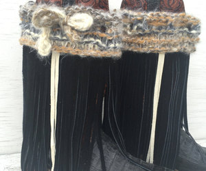 etsy, fringe boots, and black fringe image
