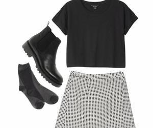 fashion, blackandwhite, and girl image