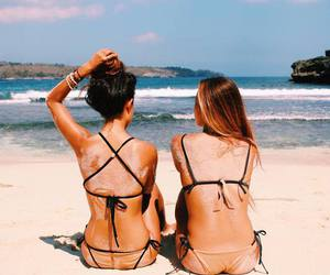 beach, friends, and indie image