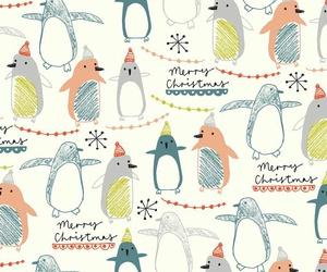 christmas, pattern, and penguins image
