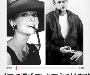 audrey hepburn, james dean, and sleeping with sirens image