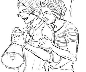 art, louis tomlinson, and larry stylinson image