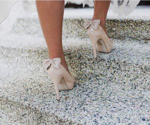 shoes, bow, and high heels image