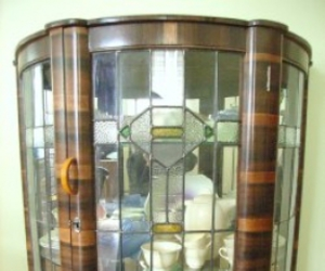 art deco, beveled glass, and cabinet image