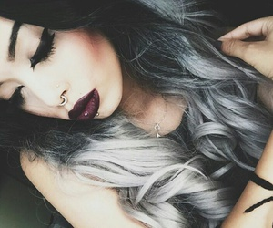 hair, fashion, and lips image