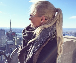 apple, blonde, and city image