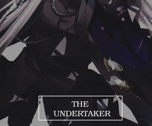 kuroshitsuji, undertaker, and anime image