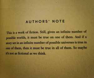 book, fiction, and authors note image