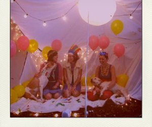 balloons, girls, and friends image