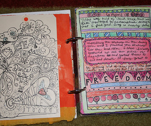 art, book, and notebook image