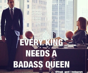 king, suits, and harvey specter image