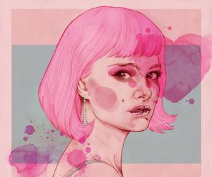 pink, art, and closer image
