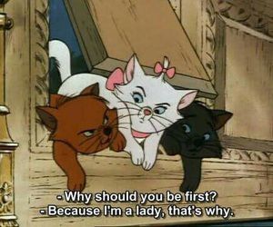 cat, lady, and disney image