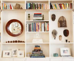 decoration, shelving, and interior design image