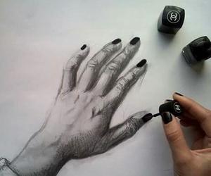 art, nails, and drawing image