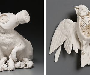 rabbit, sculpture, and bunny image