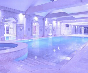 pool, luxury, and purple image
