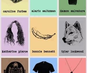 the vampire diaries, elena gilbert, and damon salvatore image