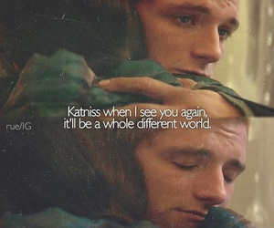 katniss, peeta, and everlark image