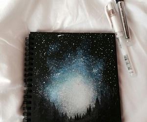 art, stars, and drawing image