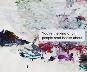 book, girl, and quote image