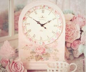 clock, girly, and pink image