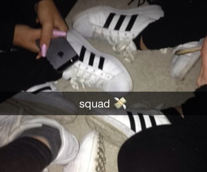 squad, adidas, and snapchat image