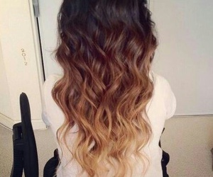 brown, hair, and waves image