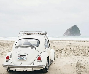 beach and car image