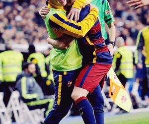 Barcelona, lionel messi, and iniesta image