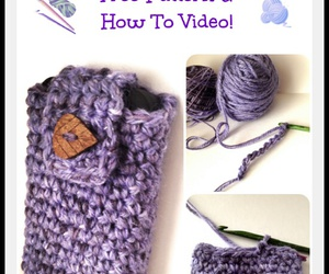crochet, diy, and phone case image
