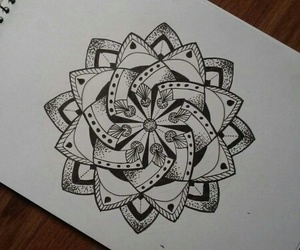 drawing, doodles, and mandala image