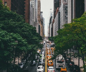 city, new york, and cars image