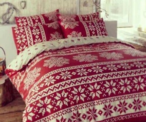 bed, christmas, and winter image
