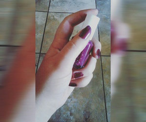 colours, nails, and purple image