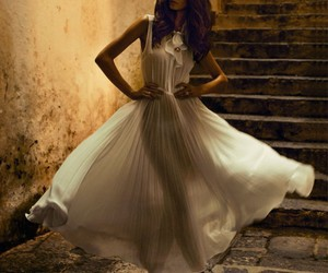 fashion, dress, and white dress image