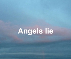 angels, lie, and sad image