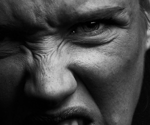 anger, black and white, and emotion image