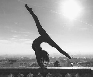 dance, sun, and black and white image