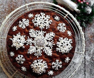 christmas, winter, and cake image