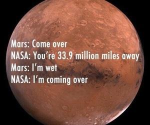 mars, nasa, and funny image