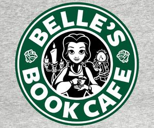 belle, starbucks, and beauty and the beast image