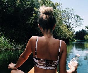 bikini, blonde, and long hair image