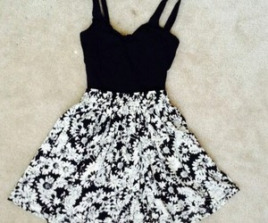 clothes, dress, and floral image